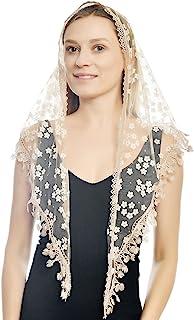 三角蕾丝面纱 头纱 头巾 大教堂 头纱 适用于大众婚礼 围巾 披肩 大头罩