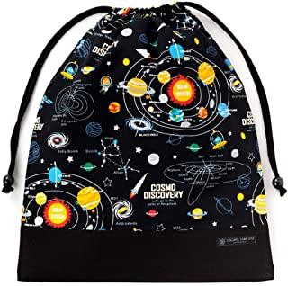 布袋大 体操服袋 体操服袋 太阳系行星和宇宙天象仪(黑色) N3376200