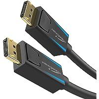 KabelDirekt - DisplayPort(DP至DP)数据线版本1.4(传输速率高达32.4Gb/秒,8K…