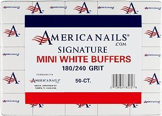Americanails Signature 迷你白缓冲剂 180/240 粒,50 粒