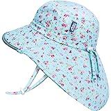 JAN & JUL GRO-with-Me 棉质冒险帽   50+ UPF 可调节幼儿太阳帽 适合婴幼儿