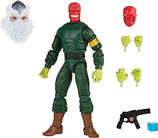 Hasbro 孩之宝 Marvel Legends 漫威传奇系列 6 英寸(约15.24厘米)可收藏可动红骷髅手办,带有 7 个配件和 1 个构建模型部件,高级设计