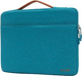 LSS 保护笔记本电脑内胆包,带 PU 皮革手柄,适合男士/女士 - 时尚耐用的内胆包适用于 12 英寸 - 12.9 英寸的笔记本电脑,酷炫笔记本电脑套,兼容 MacBook Air、Pro、Microsoft Surface 等