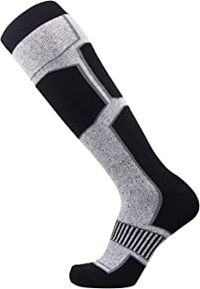 纯运动员滑雪袜 - 男女舒适保暖滑雪单板袜