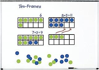 Learning Resources 巨型磁性十框套装,课堂数学教学套装,磁性白板套装,4件套,适合5岁以上儿童
