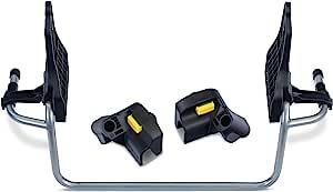 BOB Gear 单慢跑推车适配器,适用于 Graco 婴儿汽车座椅,灰色