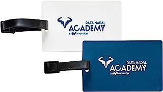 官方包装 2 个行李箱牌(白色和蓝色),Rafa Nadal Academy by Movistar