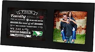 KH 体育迷黑色 40.64 厘米 x 20.32 厘米北达科他州家庭欢呼单拼贴相框