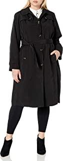 London Fog 女士单排扣带腰带风衣