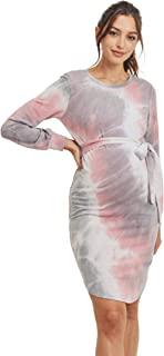LaClef 女式扎染孕妇连衣裙