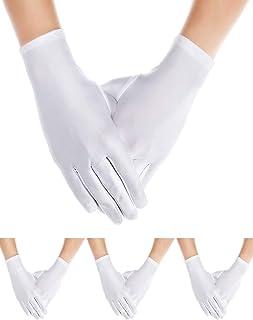 Sumind 4 双制服手套氨纶手套礼服手套适用于男士警察正式燕尾服守卫游行服装(白色 A,儿童尺码)