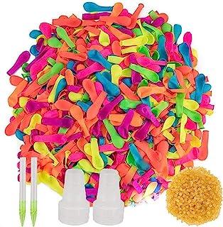 500 个装,水气球带补充套件,乳胶水炸弹气球战斗游戏 - 儿童和成人的夏日飞溅乐趣,泳池派对夏季飞溅乐趣