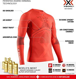 X-BIONIC 男士 Energy Accumulator 4.0 长袖圆领衬衫