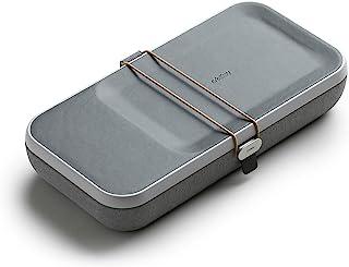 Orbitkey Nest | 便携式和可定制桌面收纳盒,内置无线充电器| 可移动隔板 | 灰色