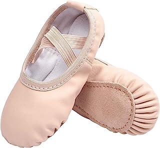 STELLE 女童帆布芭蕾鞋/芭蕾舞鞋/瑜伽舞鞋(幼儿/小童/大童/女士/男孩)