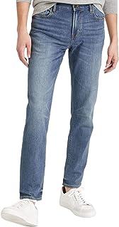 Banana Republic 男式 629064 修身弹力旅行牛仔裤,做旧正品蓝色
