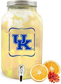 NCAA 肯塔基大学野猫玻璃饮料分配器/太阳茶罐,3 升