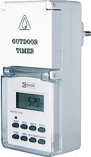 EMOS TGE-5 数字户外定时器 / IP44 插座 Schuko / 10 个程序 儿童*装置 电池备份