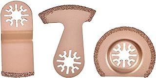 碳化物刀片 - 3 件半圆锯片 E 形锯片弧形锯片摆动分段多功能工具
