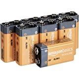 AmazonBasics 亚马逊倍思 9伏日常碱性电池6LR16-8PK 9 Volt 8 Pack