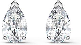 SWAROVSKI 女式 Attract 梨首饰系列,镀铑,透明水晶