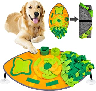 宠物狗鼻罩垫 - 互动慢喂食活动垫适用于小型中大型狗猫 - 小狗食品喂食器拼图玩具鼻垫刺激自然觅食技能气味训练垫