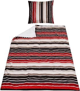 Bassetti 床上用品条纹红色