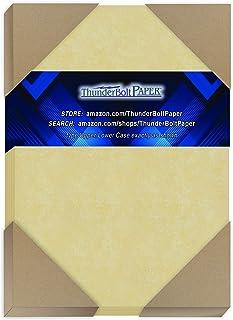 300 粒金色羊皮纸 65 磅重纸 - 12.7 厘米 X 17.78 厘米(12.7 厘米 X 17.78 厘米)照片|卡片|框架尺寸 - 可打印卡片彩色卡片纸 旧羊皮纸
