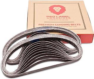 Red Label 磨料机 1/2 X 18 英寸 100 粒磨料铝空气锉砂带,20 个装