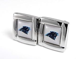 aminco NFL 女式 NFL 体育队标志方形袖扣和礼品盒套装
