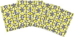 Kess InHouse Miranda Mol 花心图案户外餐垫,15 x 15 英寸,4 件套