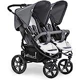 Hauck Roadster Duo SLX 兄弟姐妹/双胞胎婴儿车,适用于婴儿和幼儿,相邻,出生时适用(带手提袋),细…