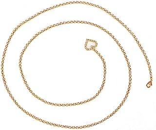 金色水晶链带,心形水钻尾部