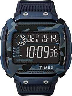 Timex Command Shock Digital CAT 54mm Watch – Navy Camo with Resin Strap