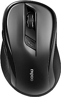 Rapoo M500 静音无线鼠标,蓝牙和无线(2.4 GHz),USB,多模式,静音按钮,1600 DPI,黑色