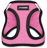 Voyager 踩踏式空气狗胸背带 - 全天候网状,步入式背心胸背带 适用于中小型犬 - 粉色底座,XXXS(胸围:9…