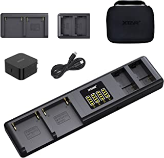 XTAR SN4 多摄像头电池充电器,2 件装 NP-F970 和 2 件装 NP-FZ100 快速充电底座,适用于索尼相机,PD 45W 智能自适应集线器,适用于摄影师和视频摄影师