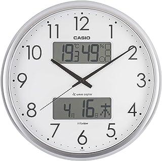 カシオ 温度・湿度計付き生活環境お知らせ掛時計 シルバー ITM-650J-8JF