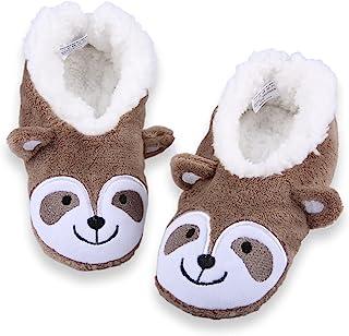 3D 模糊男孩女孩柔软舒适拖鞋袜防滑儿童房鞋