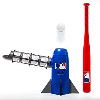 Franklin Sports MLB 儿童投球机 - 流行摇篮儿童棒球训练器 - 包括 5 个塑料棒球和棒球棒