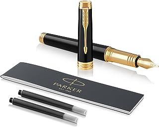 PARKER 派克 Premier 系列 钢笔 F号笔尖 细字 黑色GT 1931409 两用