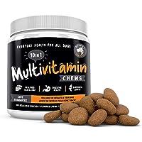 10 合 1 犬用多种维生素咀嚼零食。20 种*活性:葡萄糖胺、软骨素和姜黄,用于关节支持的欧米茄鱼油,用于皮肤,南瓜和…
