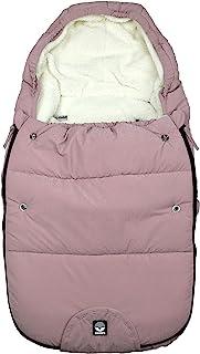 Dooky 睡袋,适用于婴儿车,汽车座椅或婴儿车(通用,防水防风,双拉链,3 和 5 点式*带,尺寸:0-9 个月(70x40x8 厘米),粉色蓝宝石
