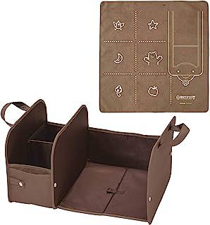 KUTSUWA METETE 收纳盒 旅行旅行! 和 準備マット付き 棕色