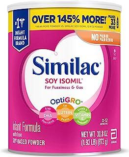 Similac 雅培 Soy Isomil 含铁婴儿*奶粉 30盎司(873g)(4罐装)