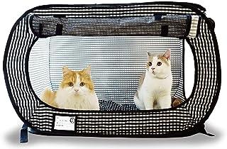 necoichi 猫一 便携式笼子 黑色
