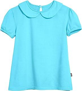 City Threads 女童彼得潘领口 A 字形泡棉 T 恤 适合上学和玩耍