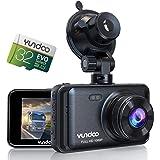 YUNDOO 汽车行车记录仪,车载摄像头包含 32GB SD 卡,全高清 1080P,3 英寸 IPS 屏幕广角镜头,重…