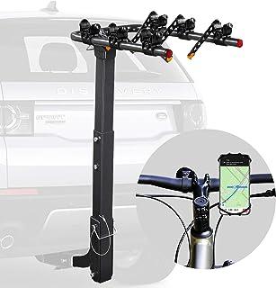Vedouci 汽车自行车架 自行车架 挂接架 双折叠架 适用于汽车、卡车、SUVS 和小型货车 带 2 英寸挂接接收器 附赠一个自行车手机支架