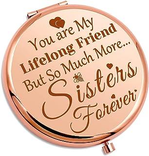 姐妹礼物 *好的朋友 送给女性女孩 小巧化妆镜 友谊礼物 送给姐妹 灵魂姐妹 旅行化妆镜 万圣节婚礼礼物 送给她的口袋化妆镜